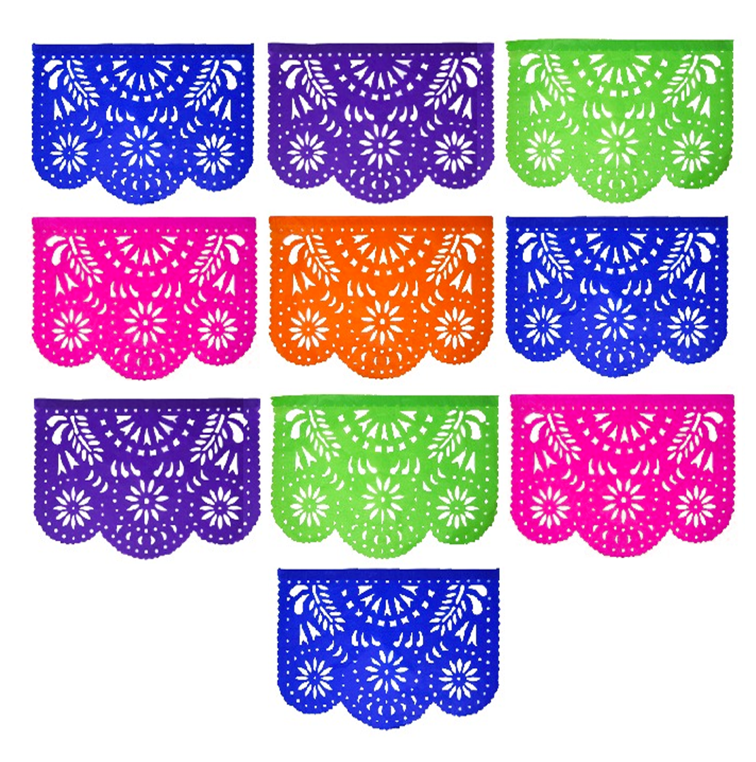 Papel Picado - Event Banner for every Occasion - 4 pack