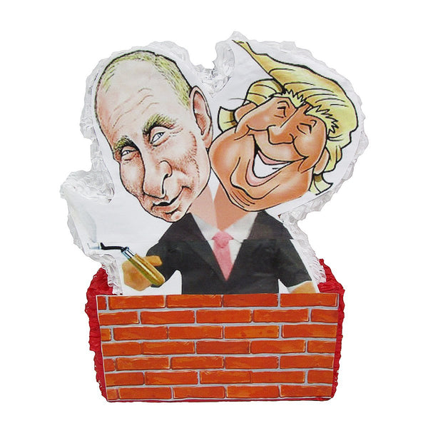 Trump Putin 2 Headed Pinata, Gag Gift, Party Game and Decoration