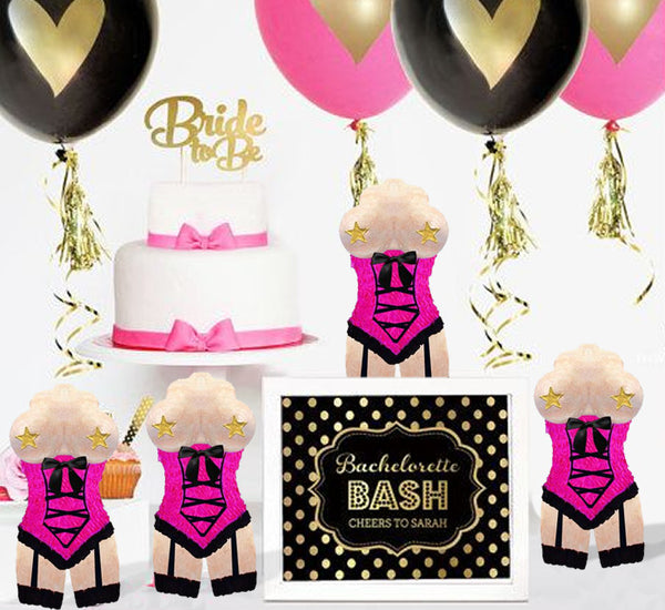 Bachelorette Mini Pinata Party Favor 4/Pack