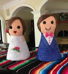 Custom Bride and Groom Wedding Pinata Centerpiece