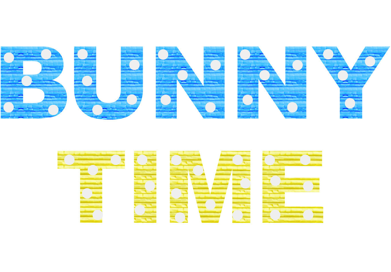 Custom Easter Bunny Time Message Pinata