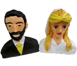 Custom Wedding Couple Busts Pinata