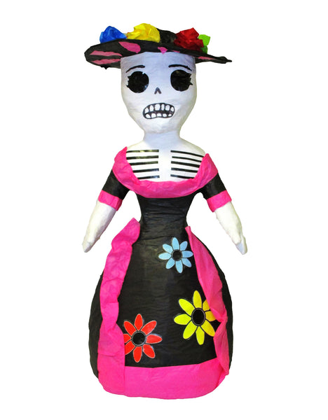 Medium Day of the Dead Catrina Skeleton with Hat Pinata