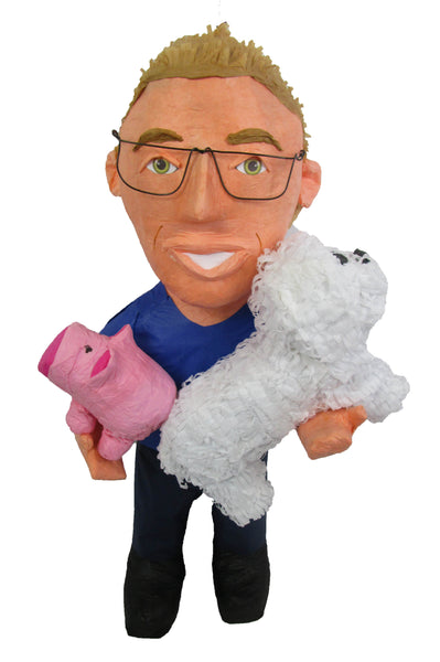 Custom Man Holding Dog Pinata