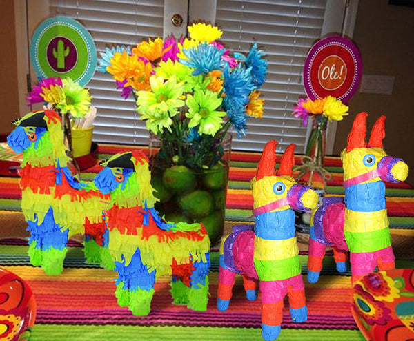Fiesta Mini Pinata Paty Favors 4/Pack