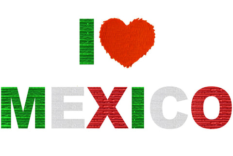 Custom Fiesta Love Mexico Message Pinata
