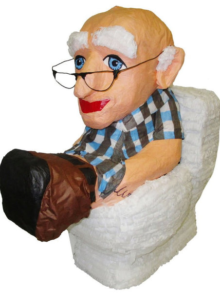 Old Man On Toilet Custom Pinata
