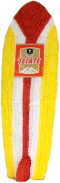 Tecate Surfboard Pomotional Pinata