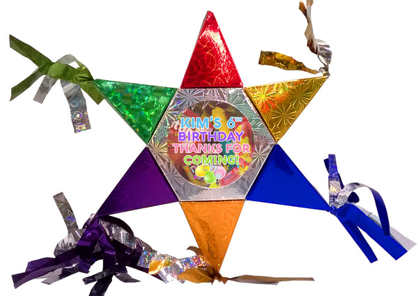 Mini Star Pinata Party Favors 6 Units
