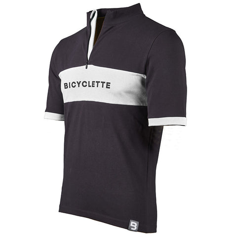 Le Gitan Bicyclette Shirt - Antrhracite Grey/Off White