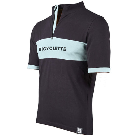 Le Maître Bicycle Shirt - Anthracite Grey/Light Blue