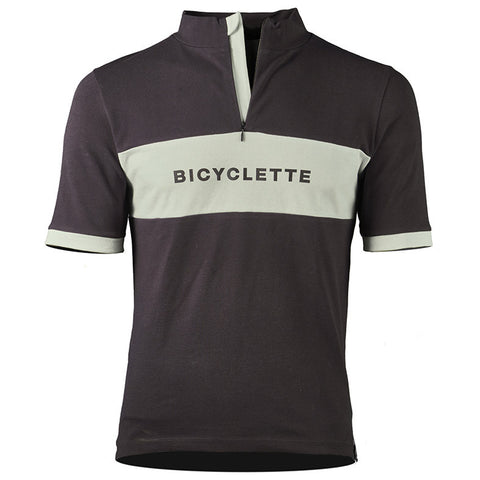 Le Shériff Bicycle Shirt - Anthracite Grey/Mint Green