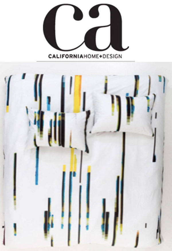 California Home+Design - Product of the Day: Glitch Designer Duvet Cover and Pillows