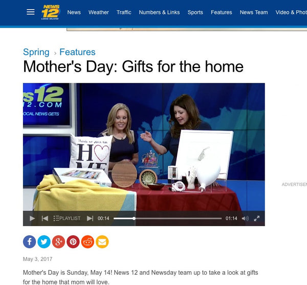 News12.Com - Mothers Day Gift Guide Featuring Ginza Cotton Blankets