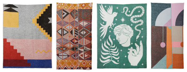 TRAVEL AROUND THE WORLD WITH THE NEW ARTIST WOOL BLANKETS COLLECTION