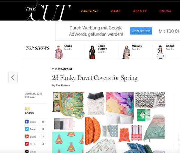 NY Mag 23 Funky Duvet Covers for Spring x ZigZagZurich