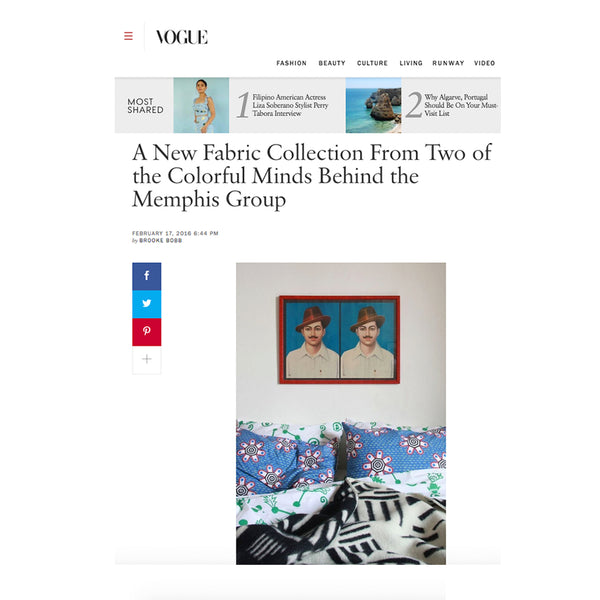 COOPDPS Cotton Blanket featured in VOGUE February 2016