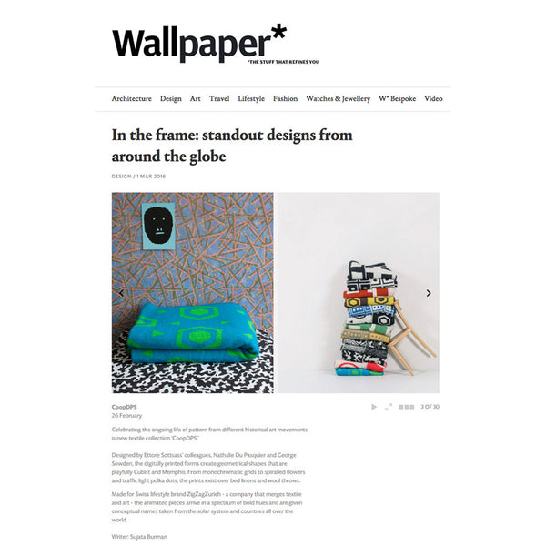 Artist Cotton Blankets,WALLPAPER's choice February 2016