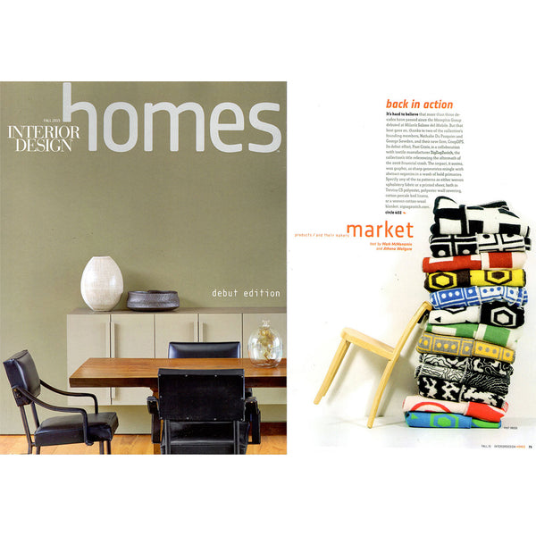 Artist Wool Blankets featured in INTERIOR DESIGN HOMES December 2015