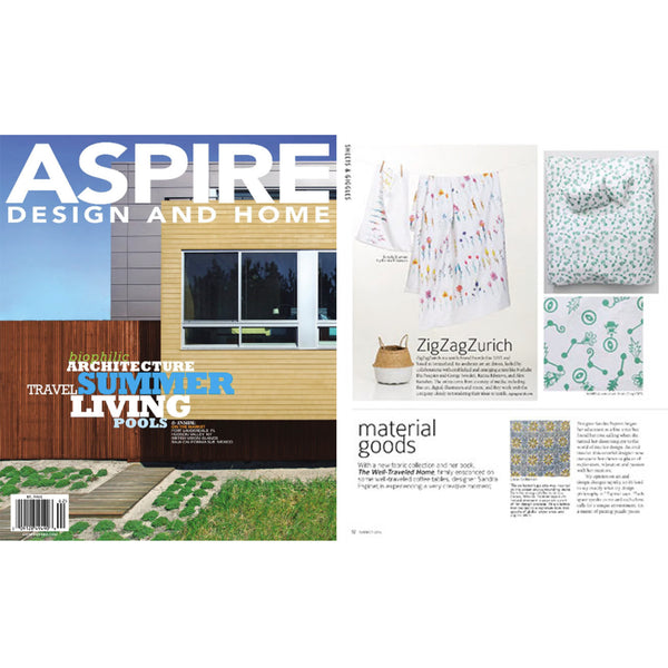 Artist & Designer Bedding by ZigZagZurich selected by ASPIRE DESIGN AND HOME July 2016