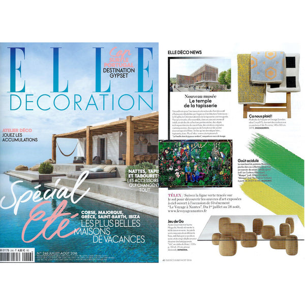 Artist Wool Blanket selected by ELLE DECORATION FRANCE July 2016