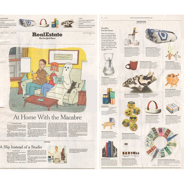 COOPDPS Cotton Blanket, featured in THE NEW YORK TIMES November 2016
