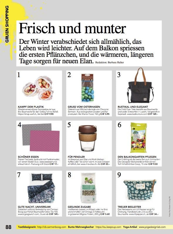 """Asleep in the Stars"" Artist Duvet Covers and Pillows by Carmen Boog, SCHWEIZER ILLUSTRIERTE's favorite April 2017"