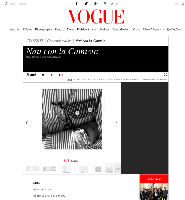 ZigZagZurich Nati con la Camicia Backpacks: Vogue Italy's Hot for 2014