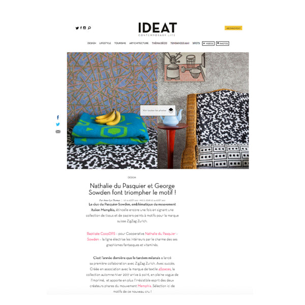 Cotton Blankets by COOPDPS, IDEAT's magazine favorites August 2017