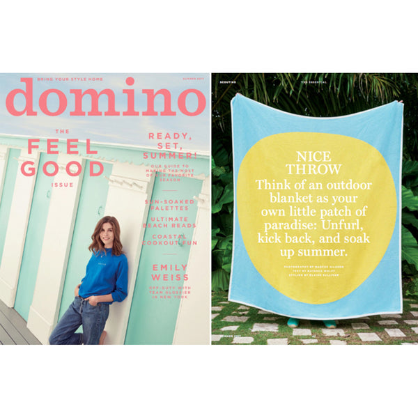 """Ginza"" Cotton Towel and Throw, domino's summer favorite June 2017"
