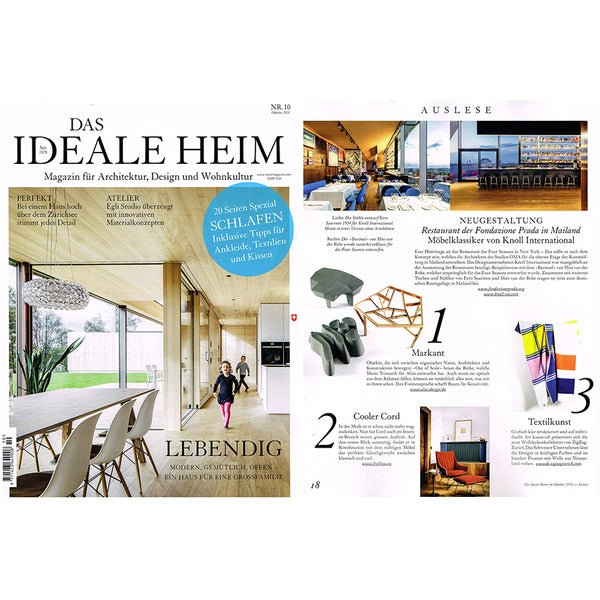 Wool Blankets by Michele Rondelli, featured in DAS IDEALE HEIM October 2018