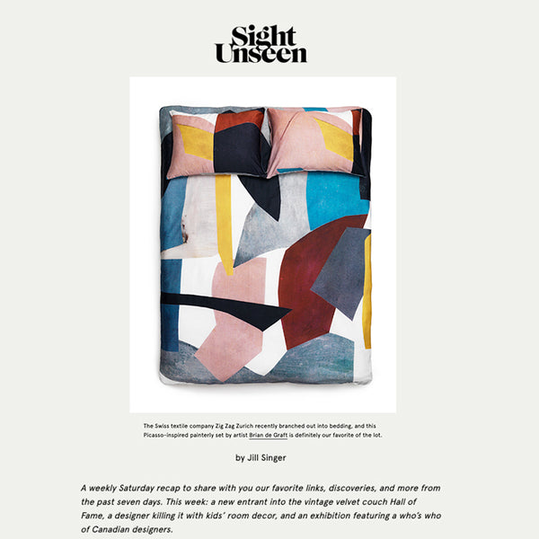 Artist Bedding selected for SightUnseen favourites October 2019