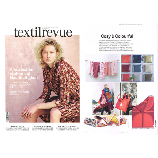 Dakar Artist wool blanket in Textilrevue magazine September 2019