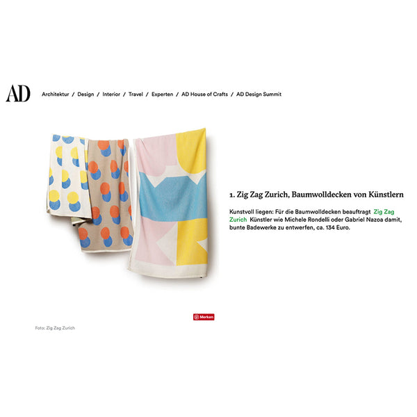 Beach Towels / Mini Blankets  AD GERMANY's magazine special summer selections July 2019