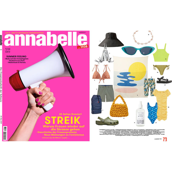 """Mainstream"" By Catherine Lavoie Cotton Blanket, Annabelle's magazine favorite June 2019"