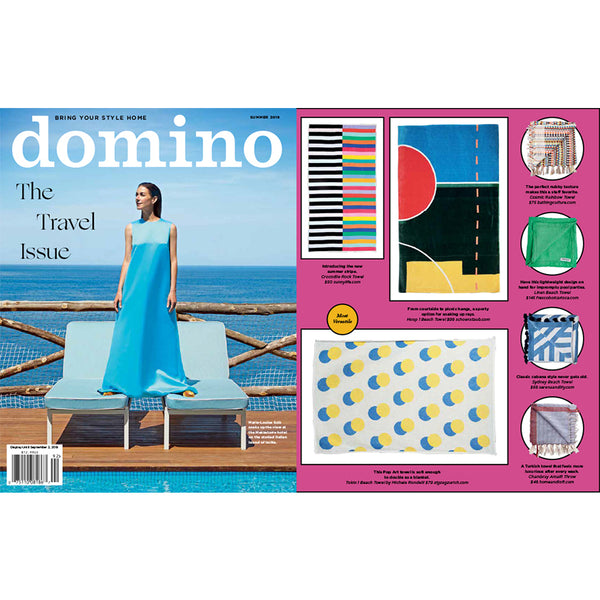 "Artist Cotton beach Towel ""Tokyo"", domino's selection June 2019"