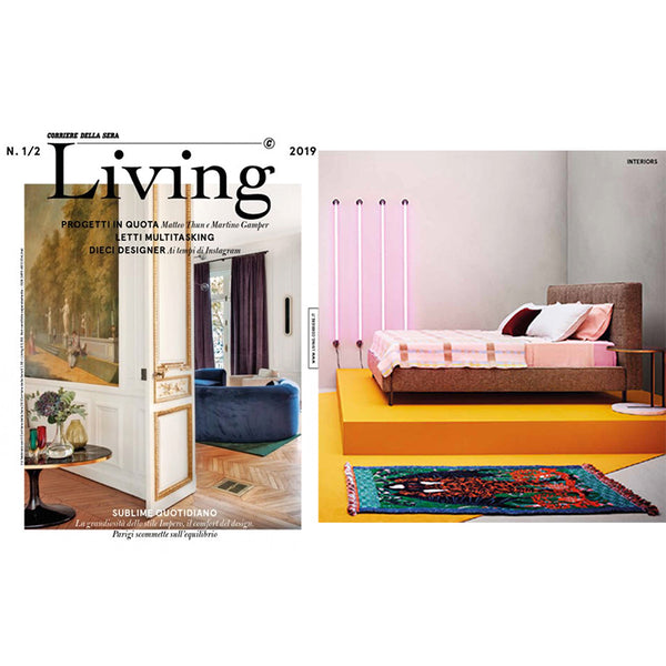 Artist Wool Blankets featured at LIVING magazine February 2019