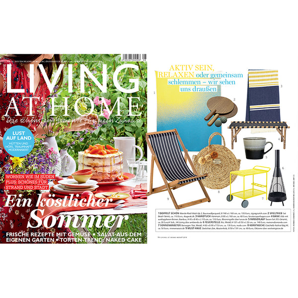 """Wash Up 2"" Blanket by Michele Rondelli in LIVING AT HOME magazine summer special July 2019"