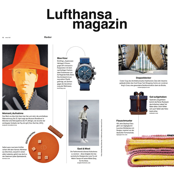 """Bauhaused"" Wool Blanket by Sophie Probst and  Michele Rondelli, LUFTHANSA MAGAZINE's favorite February 2019"