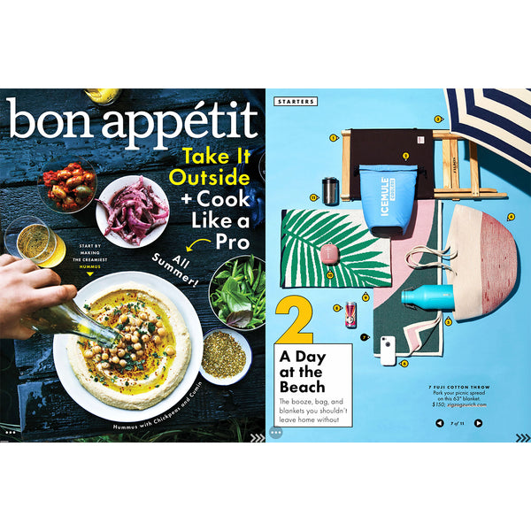 """Fuji"" Cotton Blanket by Michele Rondelli, BON APPÉTIT's summer choice June 2017"