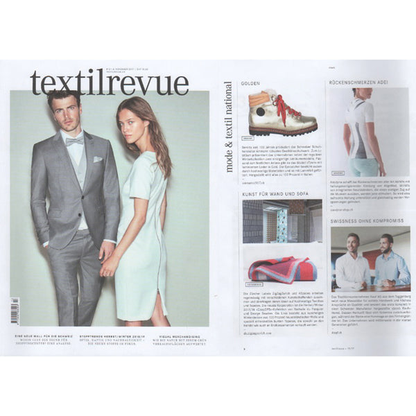 Artist Wool Blanket selected by TEXTILREVUE November 2017