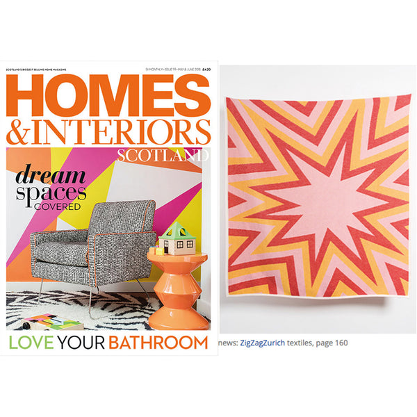 BANG! Artist Cotton Blankets & Throws by Liz Collins  - Red, HOMES & INTERIORS magazine favorite July 2018
