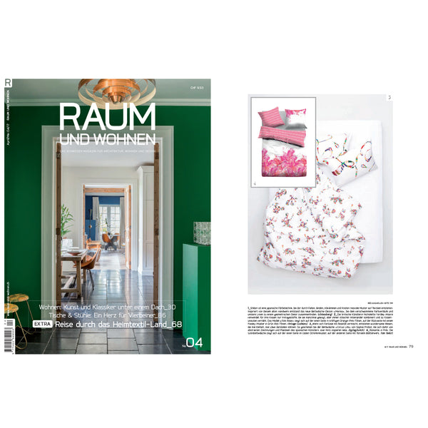 Artist & Designer Bedding featured in RAUM UND WOHNEN April 2017