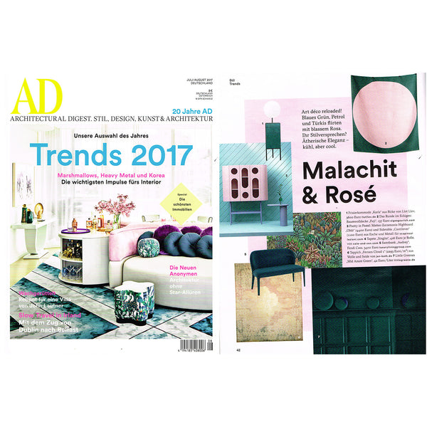 """Fuji"" Cotton blanket by Michele Rondeli featured in AD 