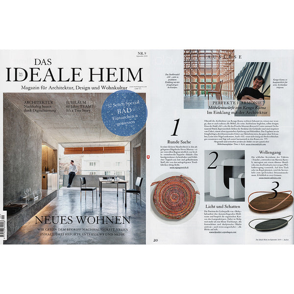 """Blade"" Carpet featured in DAS IDEAL HEIM magazine September 2019"