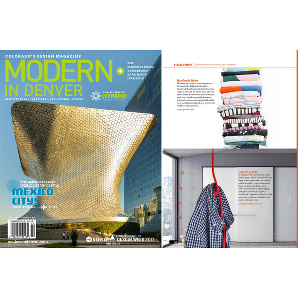 Artist Cotton Blankets selected by COLORADO'S DESIGN MAGAZINE June 2017