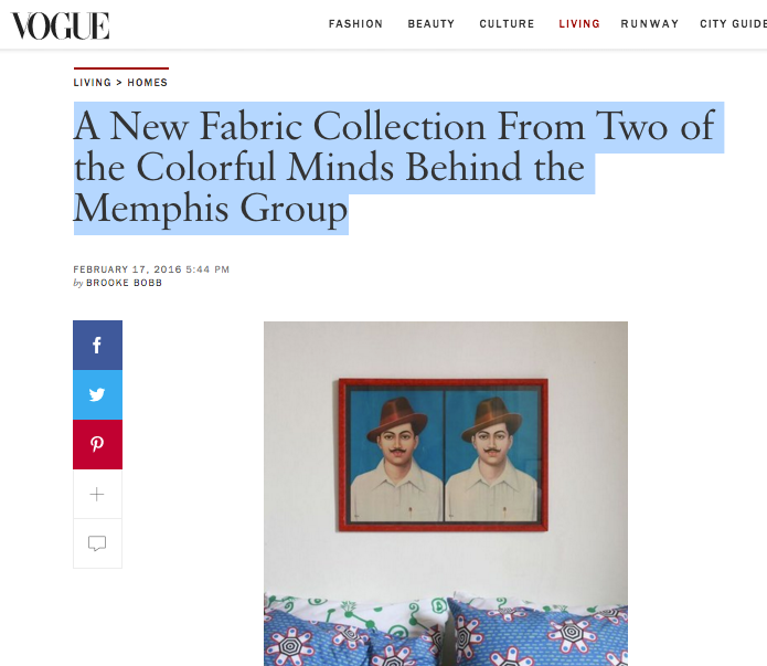 Vogue USA ZigZagZurich x CoopDPS by Nathalie Du Pasquier and George Sowden
