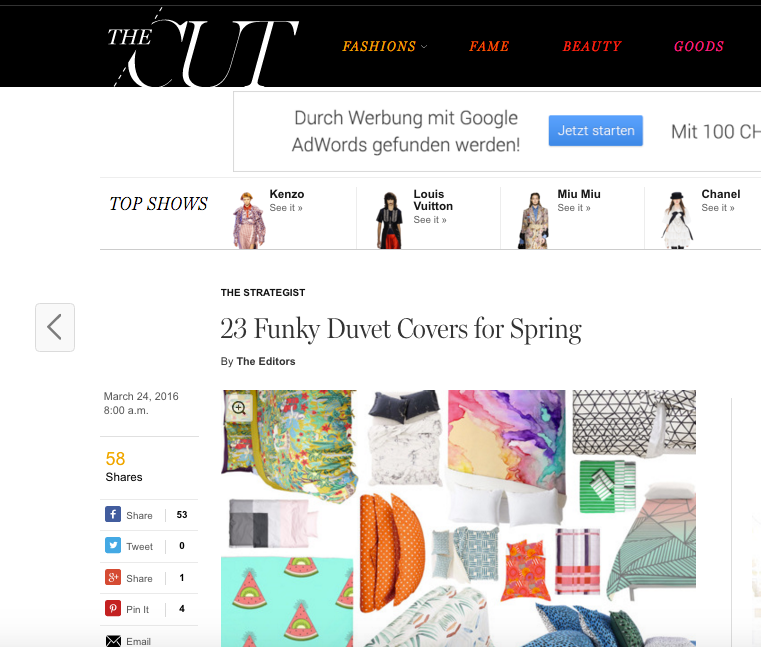 NY Mag The Cut Funky Duvet Covers x ZigZagZurich