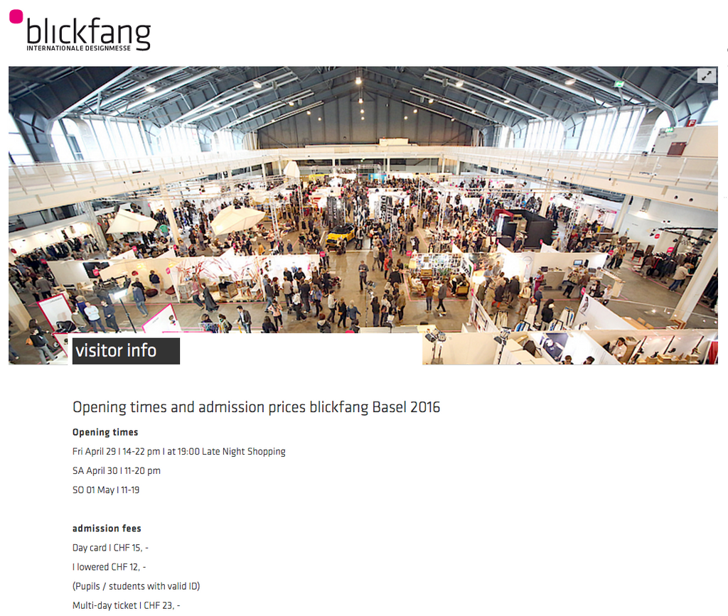 Blickfang International Designmesse ZigZagZurich