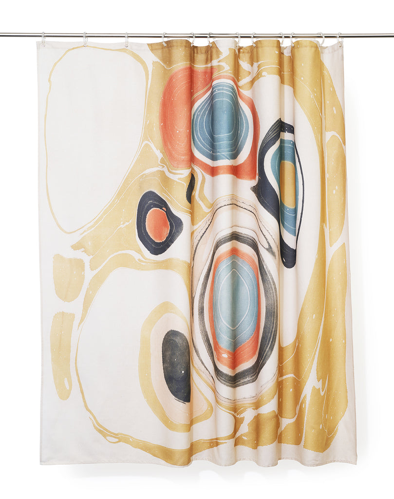 Marble Artist Cotton Shower Curtain ( Waterproof ) by Fiona Ryan